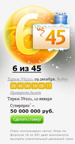 Какие билеты больше всего выигрывают в россии отзывы
