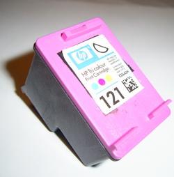 Восстановление картриджа HP 121 color. Очистка сопел