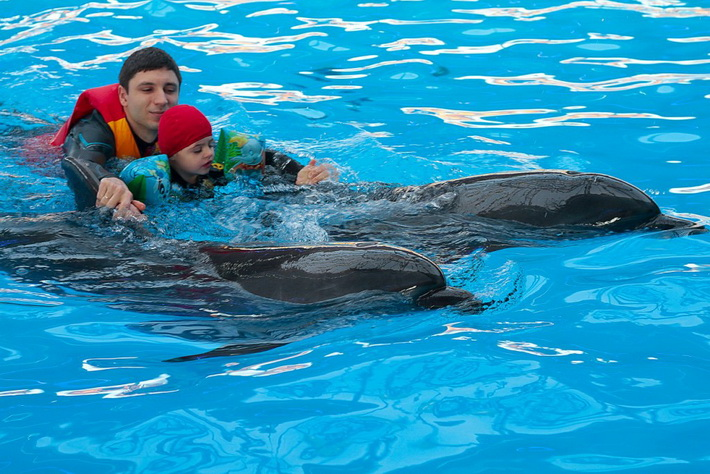 Лечение дельфинами - дельфинотерапия